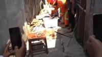 Warga Cilacap Digegerkan Ular Piton Raksasa Sembunyi di Atap Rumah