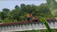 Viral Petugas PT KAI Buang Sampah ke Sungai dari Atas Rel