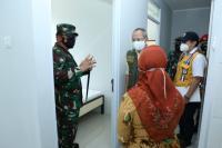 Panglima TNI Tinjau Dua Lokasi Isolasi Pasien Covid-19 di Bandung