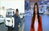 Reporter TV Ditabrak Motor Saat Siaran Langsung Laporan Lalu Lintas