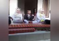 Viral Pria Menikahi 2 Wanita Sekaligus, Netizen: Senangnya Dalam Hati