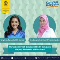 2 Mahasiswa UI Raih Penghargaan di Forum Ortodontik Asia Pasifik