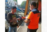 Warga Berterima Kasih atas Bantuan Masker BNPB untuk Disiplin Prokes