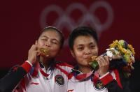 Keren! Greysia Polii Apriyani Rahayu Raih Medali Emas Olimpiade Tokyo 2020, Inter Milan Kirim Ucapan Selamat