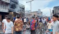 Pasar Lama Perbaungan Dilalap Api, 144 Kios Pedagang Hangus Terbakar