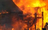 Kebakaran Hebat Melanda Pabrik Kopi di Jambi