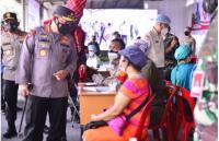 Tinjau Vaksinasi Serentak di Sumut, Kapolri Pastikan Target Presiden Jokowi Tercapai