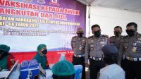HUT Ke-66 Lalu Lintas, Ditlantas Jateng Gelar Vaksinasi Massal Driver Ojol dan Sopir Angkot