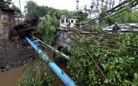 Petugas Masih Evakuasi Pohon Tumbang di Stasiun Depok