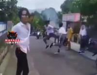 Viral Duel Siswa SMA di Minahasa Utara, Gayanya Bak Petarung MMA