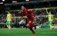 Hasil Norwich City vs Liverpool di Piala Liga Inggris 2021-2022: The Reds Menang 3-0
