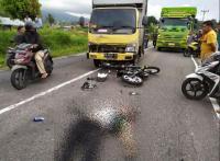 Kendarai Motor, Polisi Tewas Usai Tabrakan dengan Truk