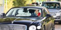 Datang Latihan, Cristiano Ronaldo Naik Mobil Rp4,8 Miliar dan Dijaga 2 Pengawal