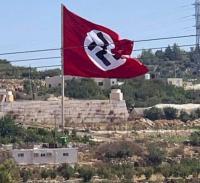 Viral Bendera Nazi Raksasa Berkibar di Kota Palestina, Ternyata Ini Faktanya