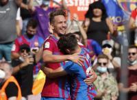 Barcelona Hantam Levante, Luuk De Jong Senang Cetak Gol Perdana untuk Blaugrana