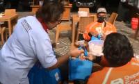 Curhat Bahagia Driver Ojol Diajak Sarapan dan Diberi Bantuan Partai Perindo DIY