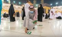 Stiker Jaga Jarak Dicabut, Masjidil Haram Siap Terima Jamaah dengan Kapasitas Penuh