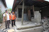 Tinjau Lokasi Gempa Bali, Ganip Warsito Sampaikan Duka Cita untuk Korban