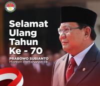 Selamat Ulang Tahun ke-70, Prabowo Subianto