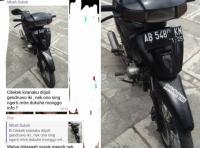 Viral! Pencuri di Sleman Gasak Motor Korban lalu Tinggalkan Motor Miliknya