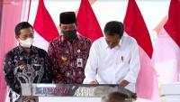 Jokowi Resmikan Jembatan Sei Alalak di Banjarmasin