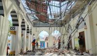 Diduga Konstruksi Tak Kuat, Atap Masjid Besar Nguter di Sukoharjo Ambrol