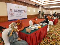 DPW Partai Perindo Jabar Gelar Vaksinasi Dosis Kedua di Lido Bogor