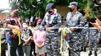 Lanal Tarempa Tetapkan Desa Batu Belah Jadi Kampung Bahari Nusantara