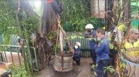 Batu Bersejarah Berumur 320 Tahun Terpendam di Jalan TB Simatupang Dipindahkan
