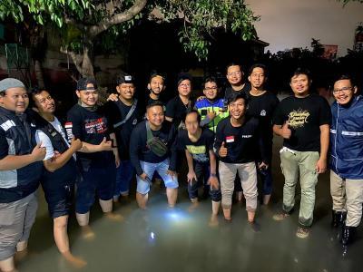 Komunitas Bikers Dakwah Ngegas Bareng Kirim Bantuan Korban Banjir