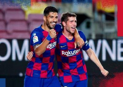 Barcelona vs Espanyol, Gol Tunggal Suarez Bantu <i>Blaugrana</i> Pepet Madrid