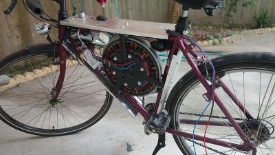 Sepeda Tua Dipasang Motor Mesin Cuci, Kecepatannya Bisa Tembus 110 Km Jam