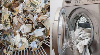 Warga Nekat Steril Uang Puluhan Juta di Microwave dan Mesin Cuci, Hasilnya Rusak Parah