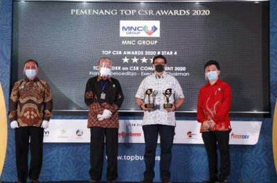 MNC Group Kembali Gaet Penghargaan Top CSR Awards 2020