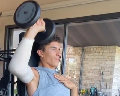 Jelang MotoGP Republik Ceko, Marquez Unggah Video Jalani Pemulihan Cedera