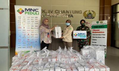 MNC Peduli dan Produser Pangan Asia Salurkan Bantuan Makan ke RS Kesdam Jaya Cijantung