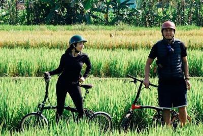 Cari Angin Segar, Mesranya Gisel dan Wijin Sepedaan di Sawah Yogyakarta