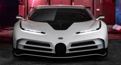 Intip Bugatti Centodieci Hitam Putih, Mobil Keren Milik Cristiano Ronaldo