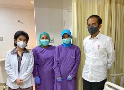 Presiden Jokowi dan Iriana Sambut Kelahiran Cucu Keempat