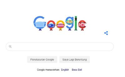 Google Kampanyekan Penggunaan Masker via Doodle