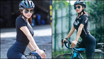 Intip Gaya Wika Salim Gowes Sepeda, Sporty dan Menggoda!