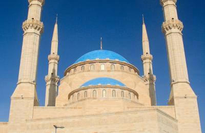 Masjid Terbesar Ikon Lebanon Rusak Parah Akibat Ledakan Dahsyat di Beirut