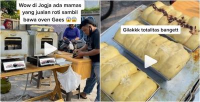 Viral Pedagang Roti di Jogja Bawa Oven Buat Manggang di Tempat!