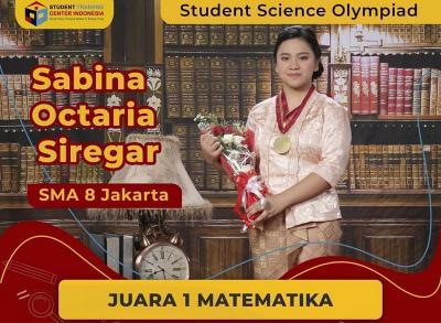 Inspiratif, Sabina Octaria Siregar Siswa SMAN 8 Jakarta Juara Matematika Student Science Olympiad 2020
