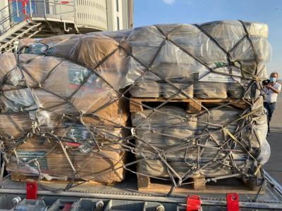 120 Ton Obat-obatan dan Makanan Bantuan Arab Saudi Tiba di Lebanon
