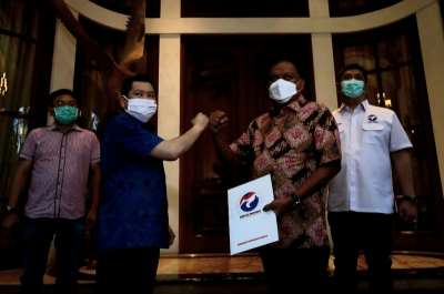 Gubernur Sulut Olly Dondokambey Jemput Surat Dukungan Perindo, Hary Tanoesoedibjo: Track Record Terbukti