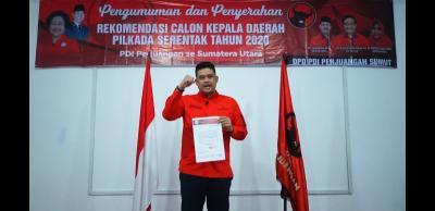 PDIP Resmi Usung Mantu Jokowi Bobby Nasution di Pilkada Medan