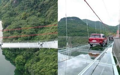 Jembatan Kaca Terpanjang di Dunia, Bisa Dinaiki Mobil
