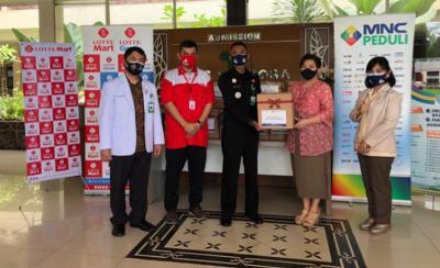 MNC Peduli dan Lotte Mart Bagikan Bingkisan untuk Petugas Rumah Sakit Sentosa Bogor