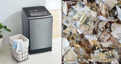 Nekat Bersihkan Uang Kertas di Mesin Cuci, Pria Ini Rugi Besar!